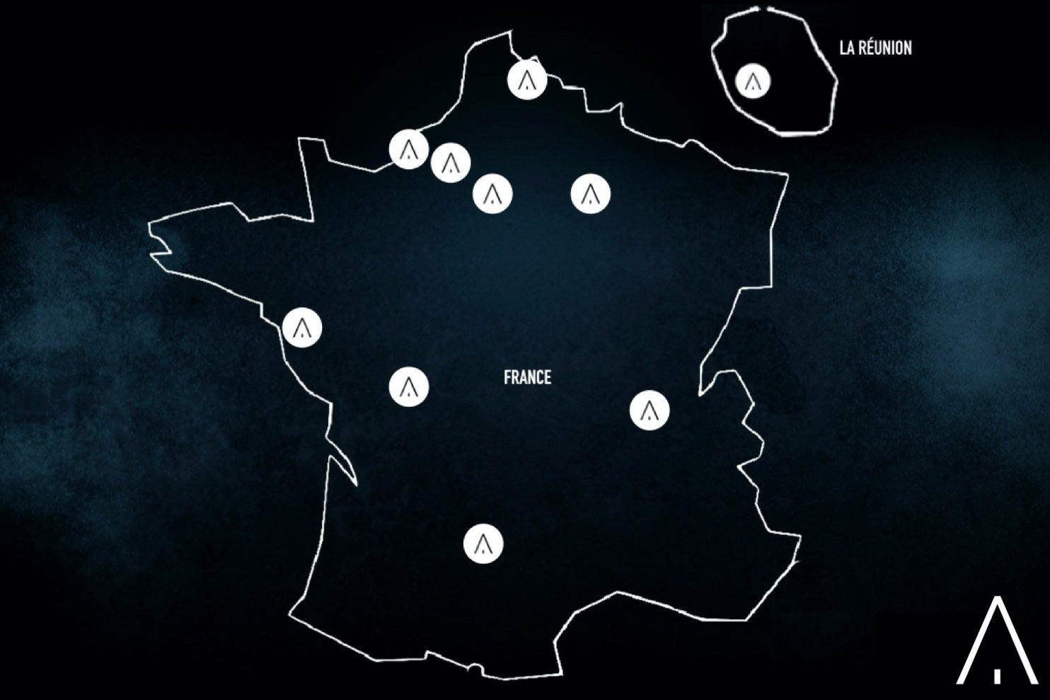 EVA location map